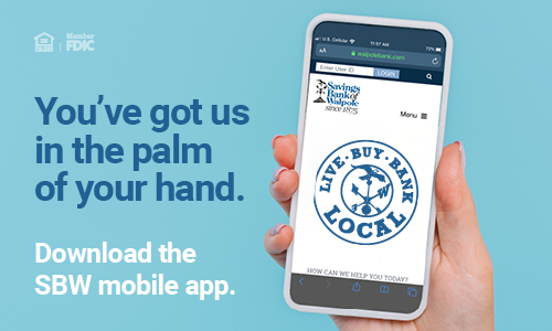 SBW Mobile App on a cell phone
